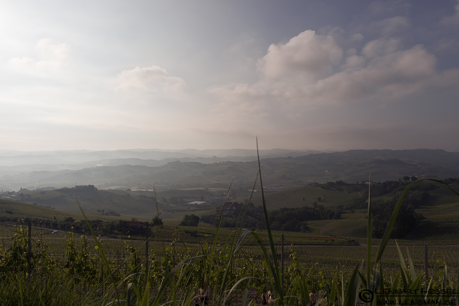 Morning view in Piedmont, Italy