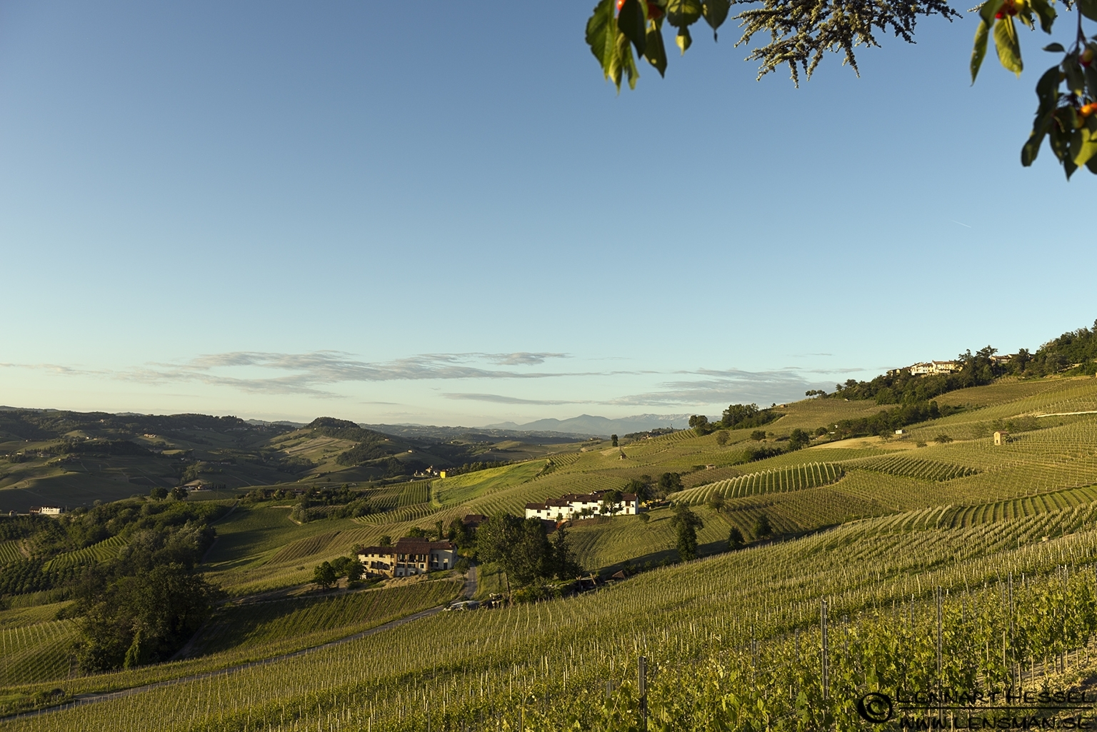 Clear morning in Piedmont, Italy