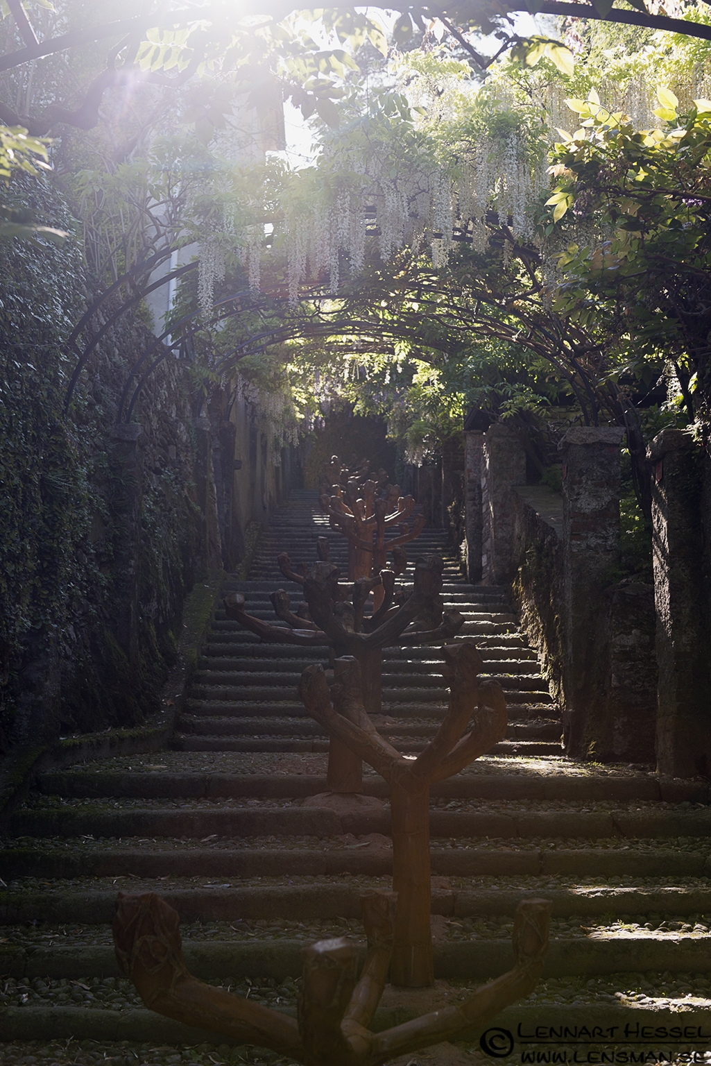 Stairs at Lago Maggiore, Italy Piedmont