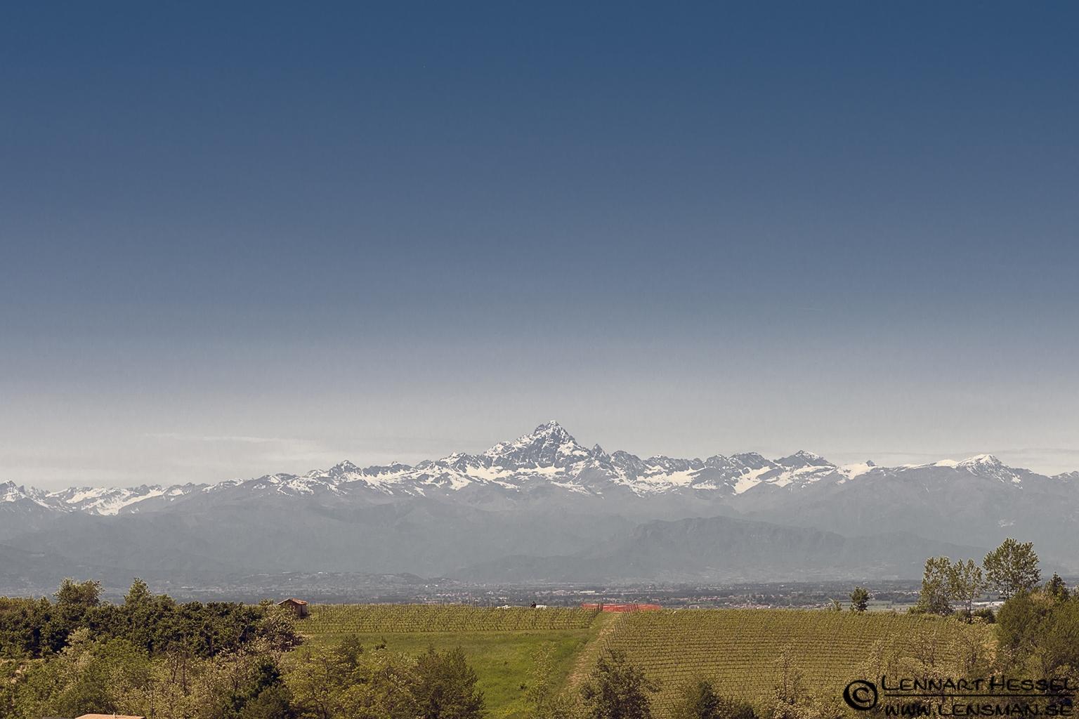 Matterhorn from La Morra in Piedmont, Italy