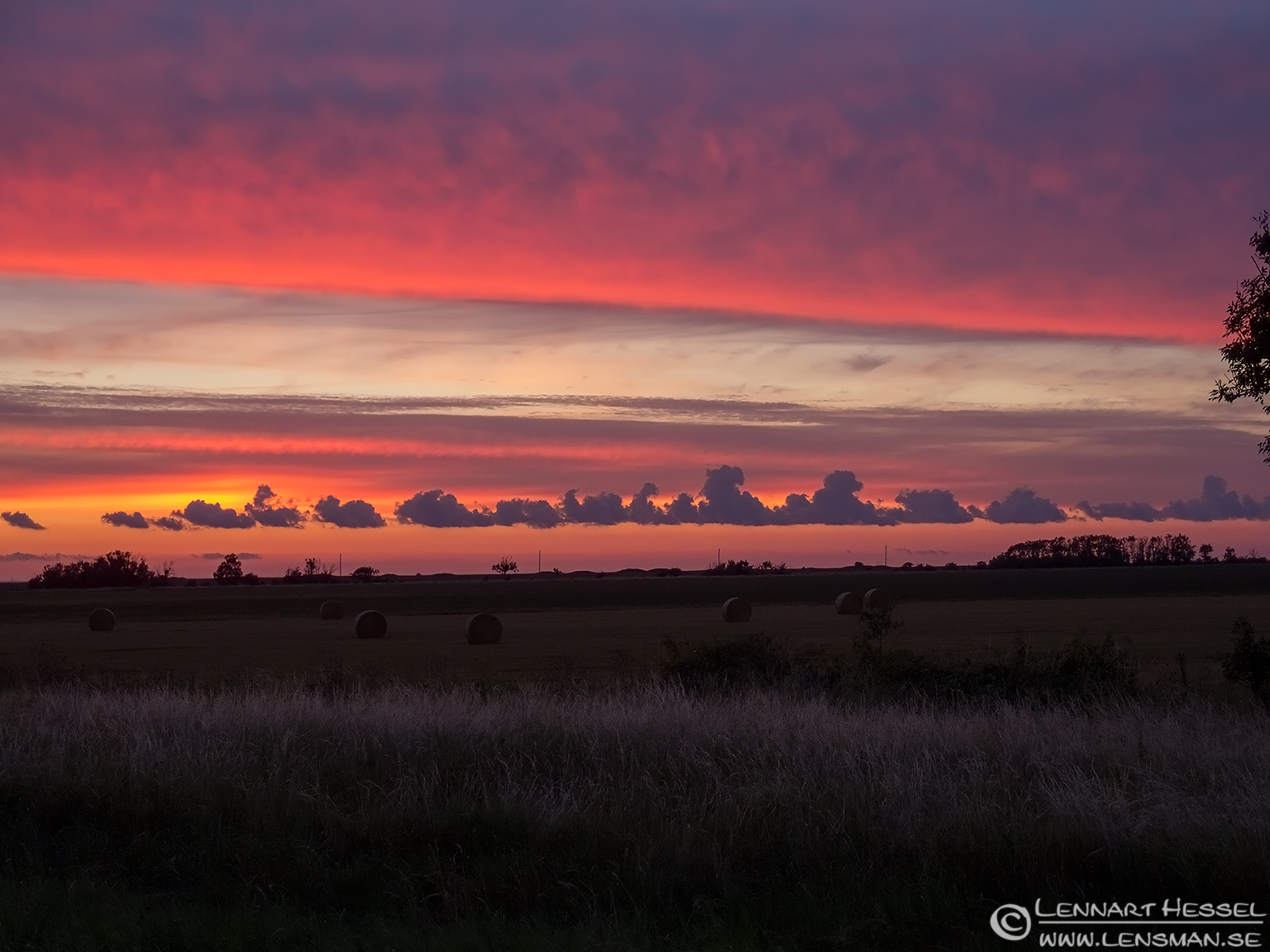 Sunset cloud train Öland 2012