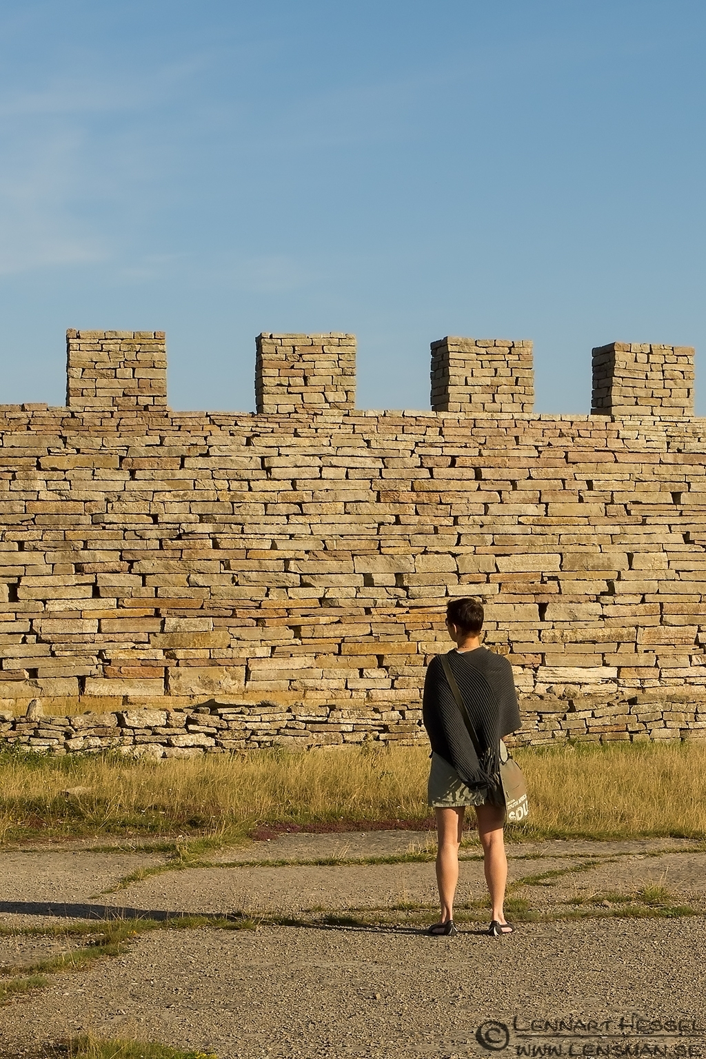 Maria and the wall Öland 2012