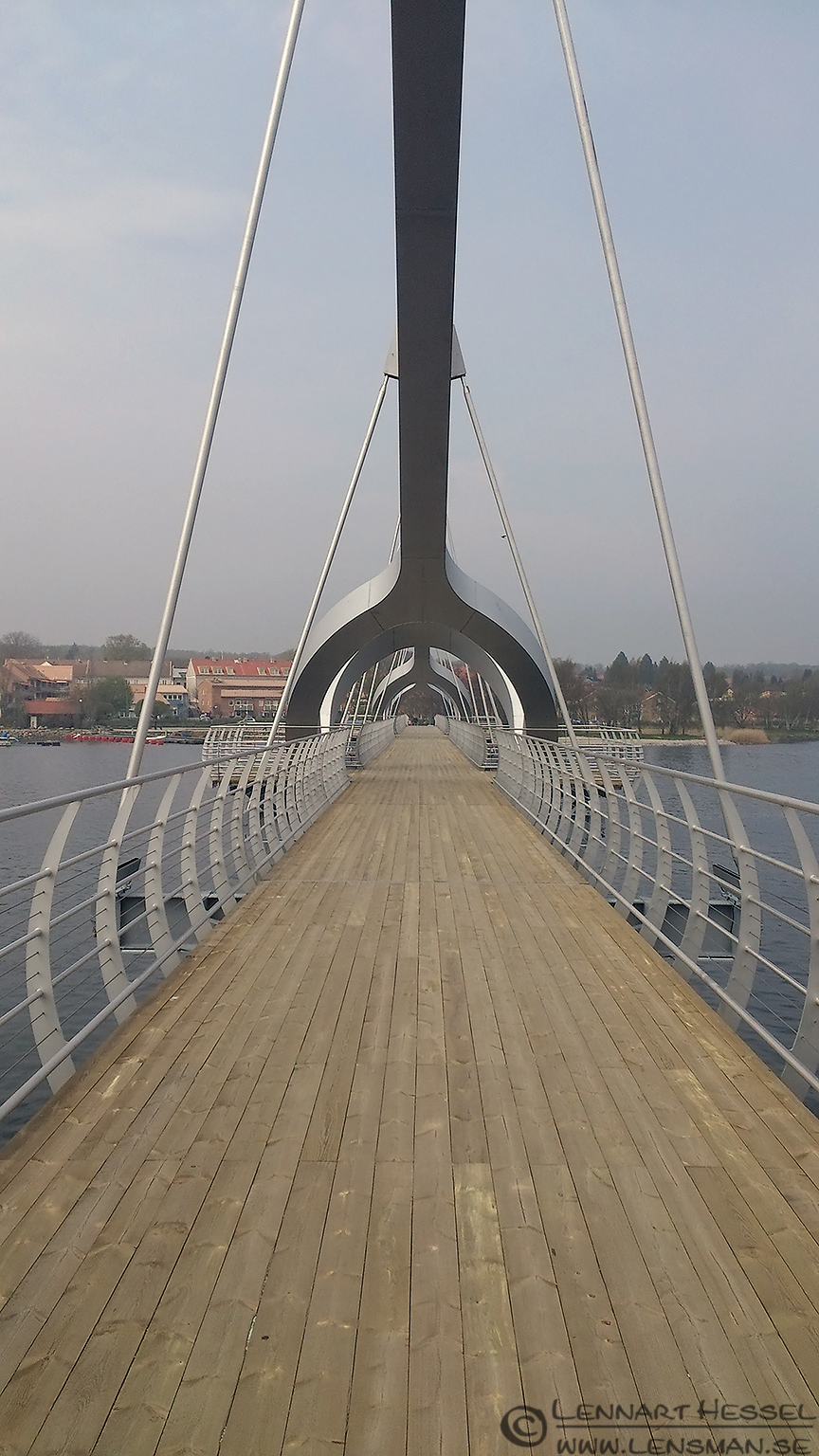 Footbridge Sölvesborg leaving