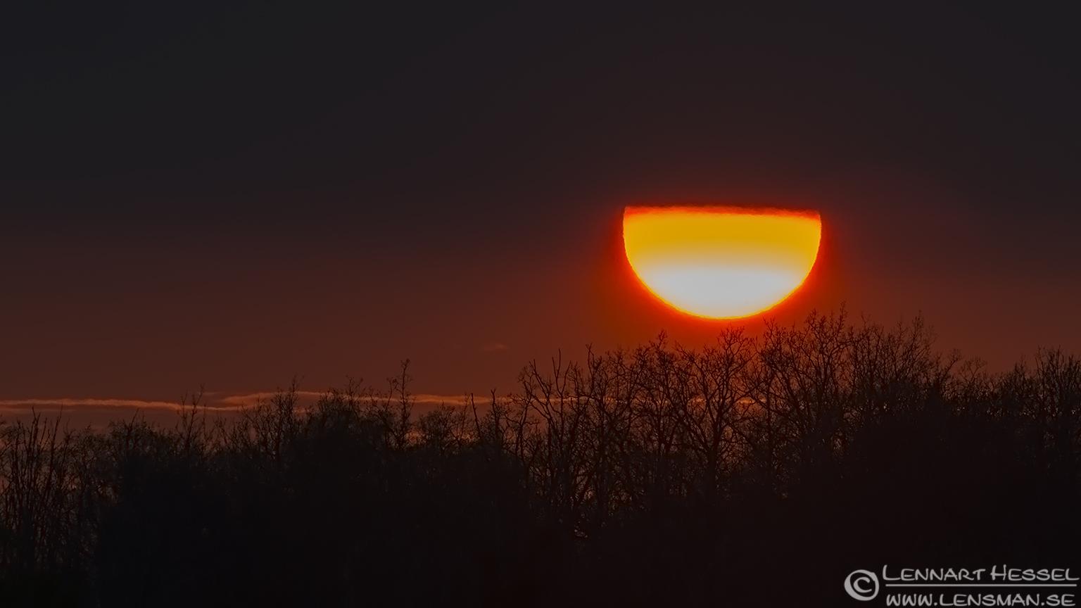 Sunset Öland leaving