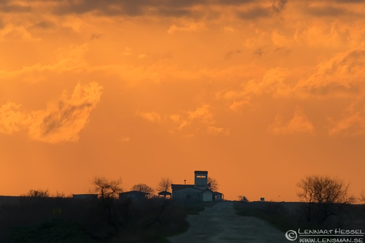 Burning sky Evros Delta