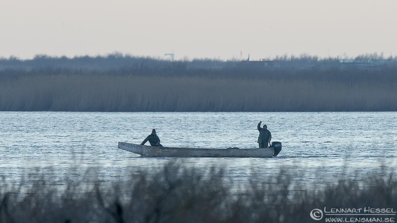 Fishermen Evros Delta