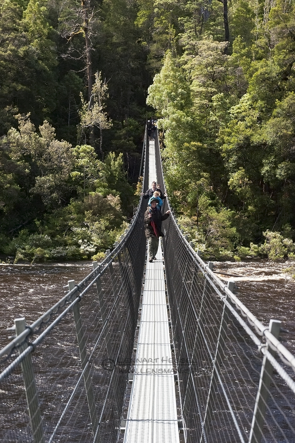 River crossing Tahune Airwalk Tasmania