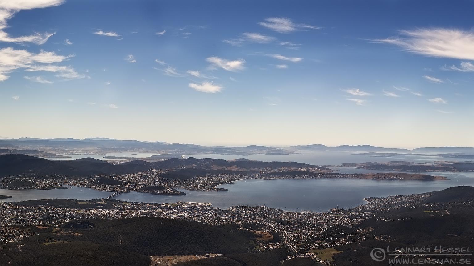 Hobart panorama Tasmania