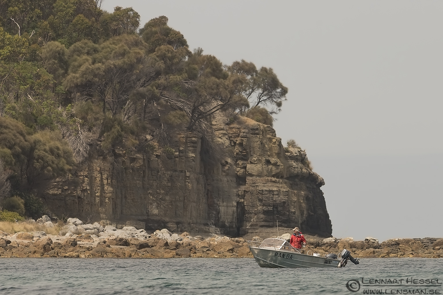 Fisherman at Tasman Peninsula Tasmania