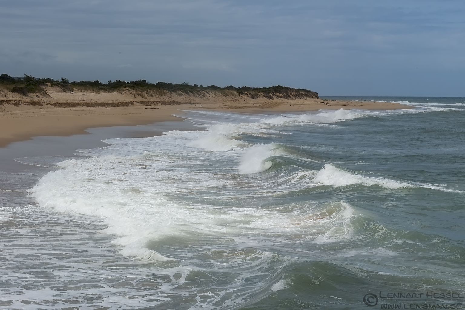 Waves at the beach Australia Victoria Lakes Entrance