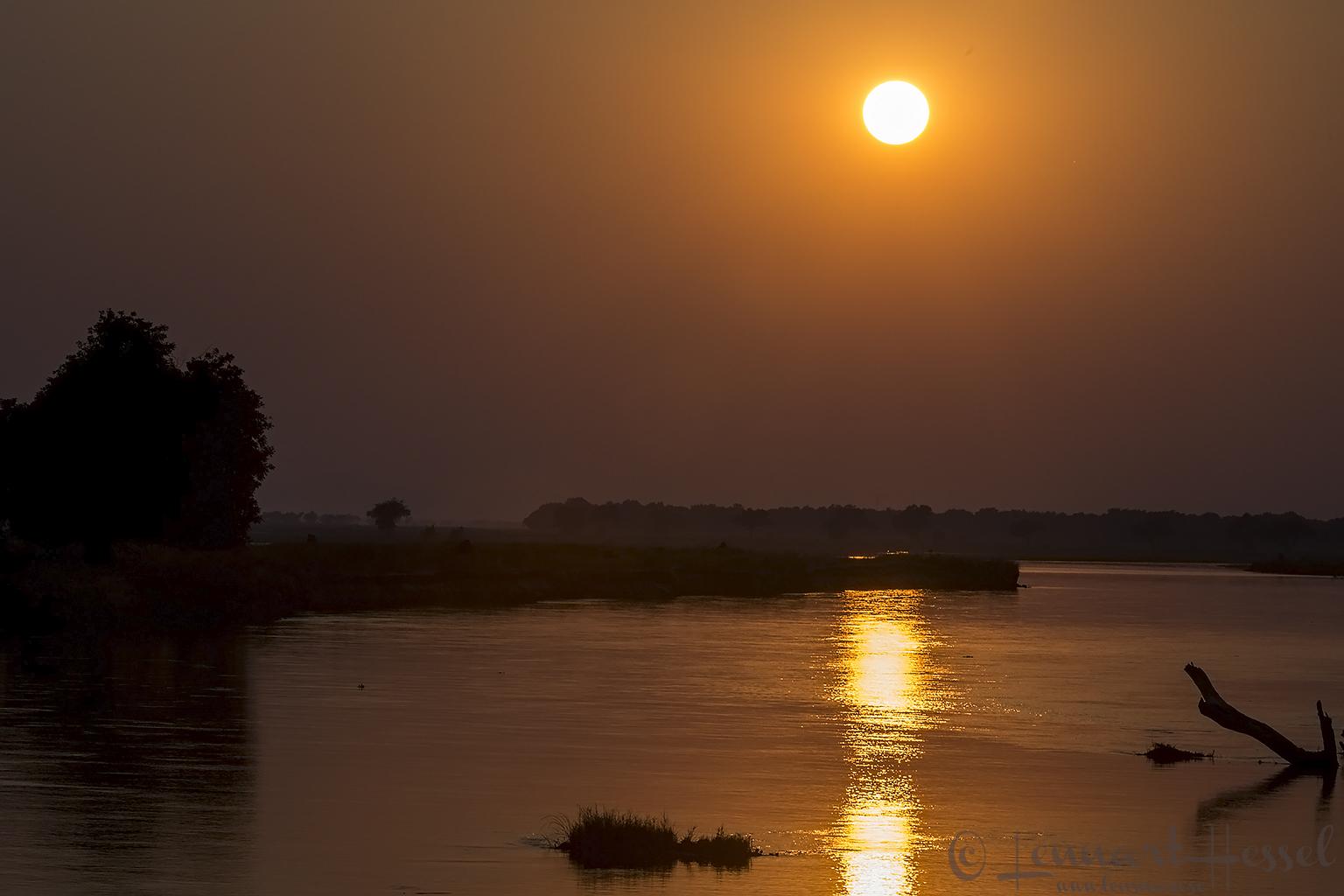 Sunrise over Zambezi Mana Pools National Park Zimbabwe