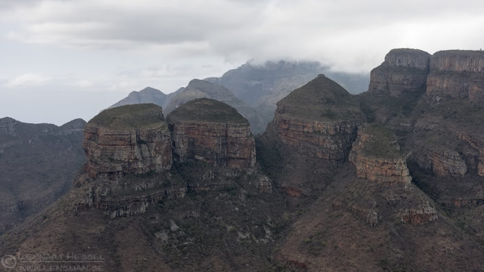 Three rondavels Panorama route South Africa