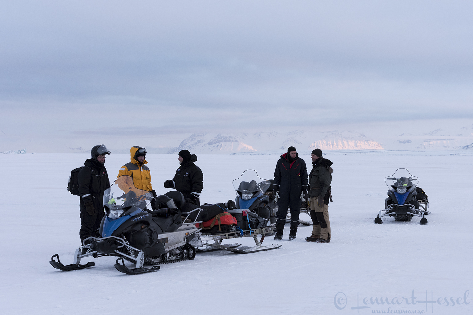 The group Arctic Svalbard