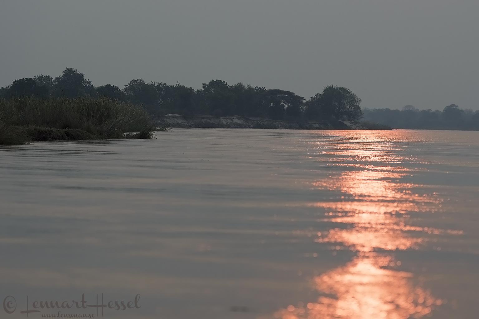 Zambezi river at sunset