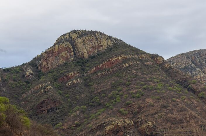 A many colores mountain top on the road to Phalaborwa, South Africa
