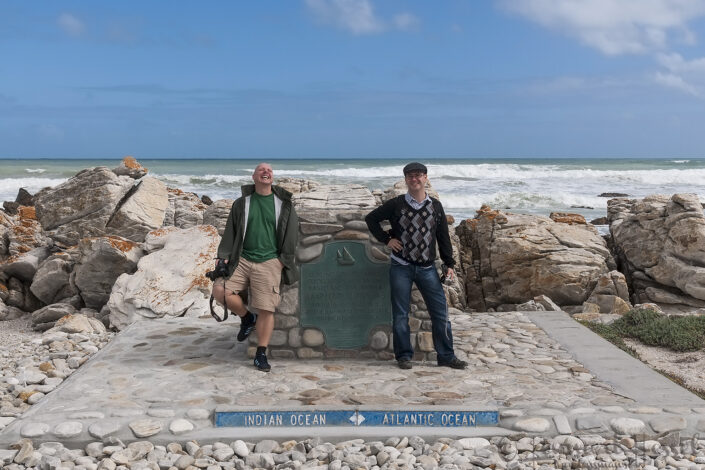 Martin Öst & Fredrik Sörensson at Cape Agulhas, South Africa