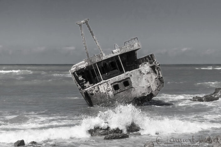 Shipwreck at Cape Agulhas, South Africa