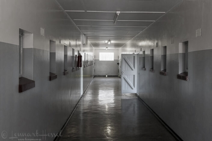 Corridor at Robben Island, South Africa