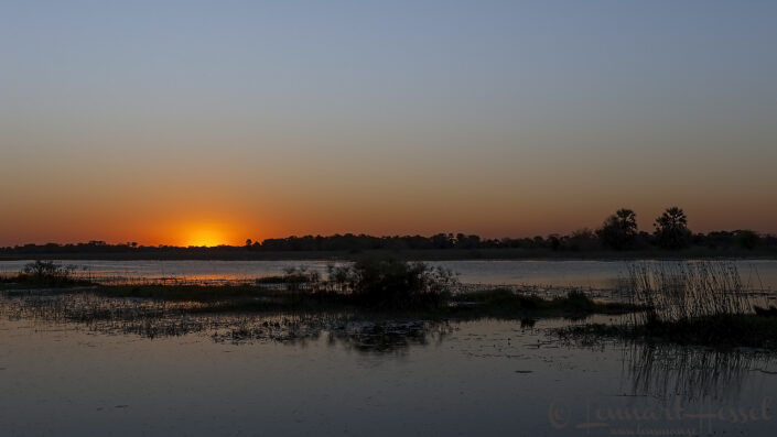 Sunset at Thamalakane River Lodge, Botswana