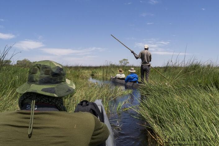Mokoro thru the Okavango Delta, Botswana