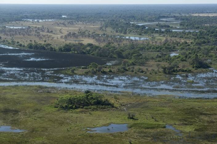 Over the Okavango Delta, Botswana