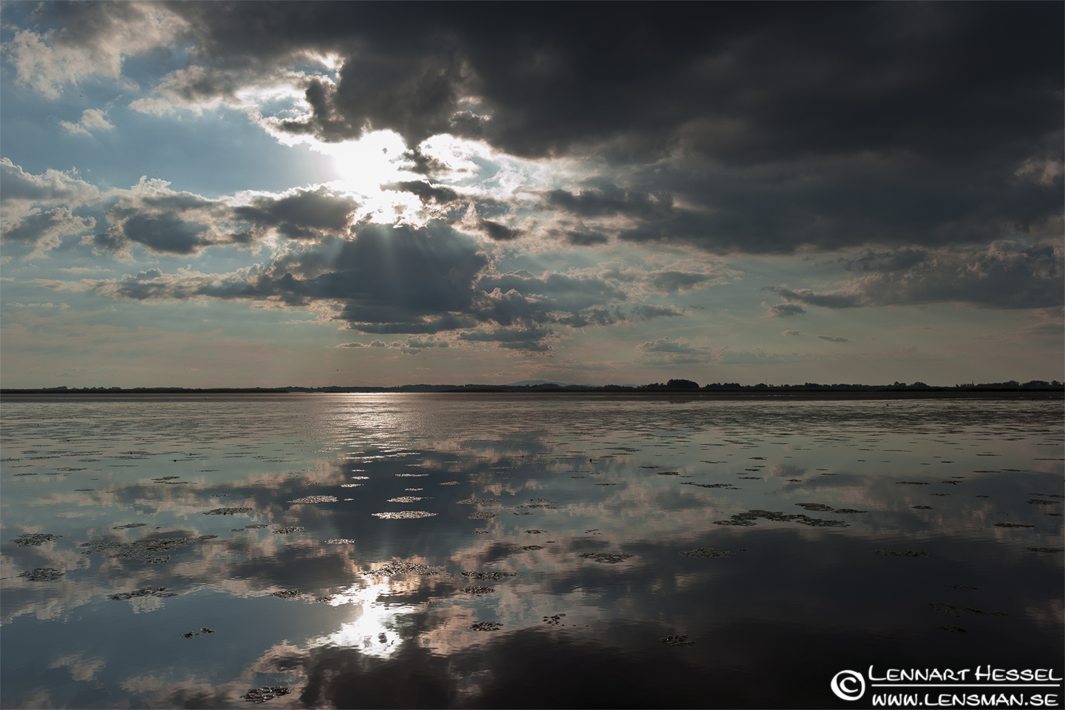 Lake Tisza in Hungary, HDR interpretation