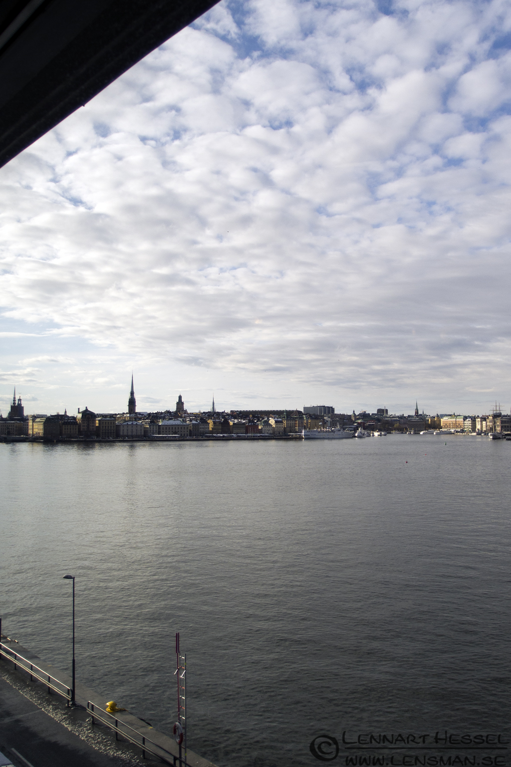 View from Fotografiska in Stockholm