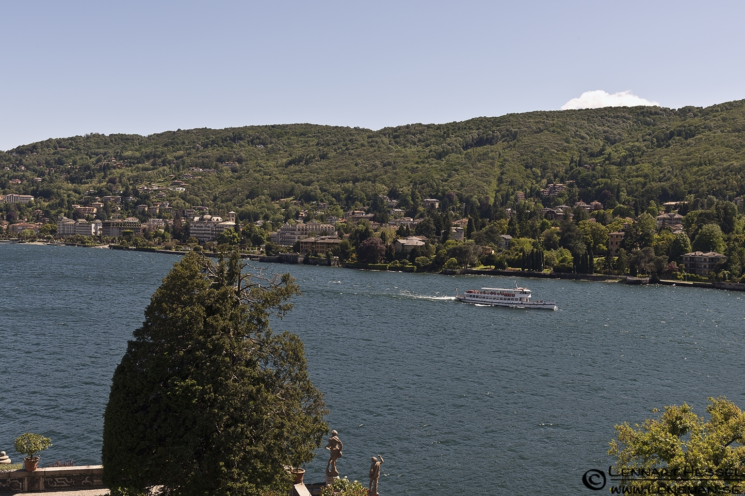 View from Isola Bella at Lago Maggiore, Italy Piedmont