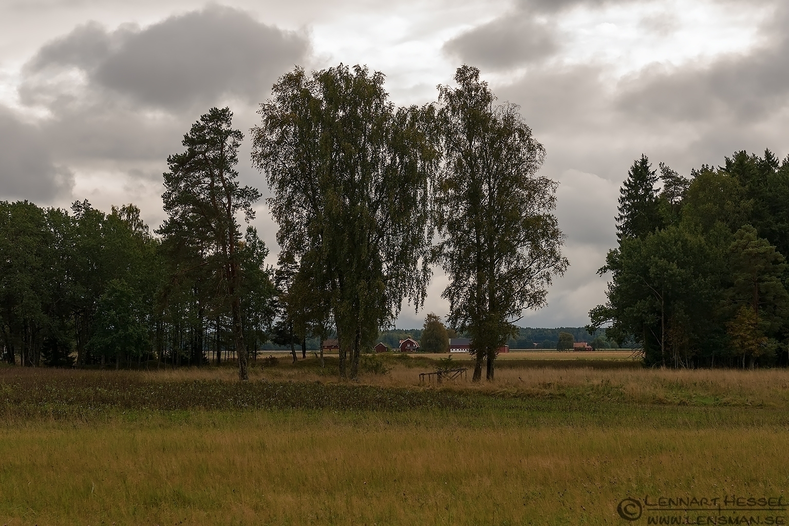 View over the fields at Anestad