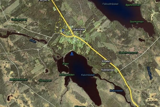 Map of Kalvträsk 121021