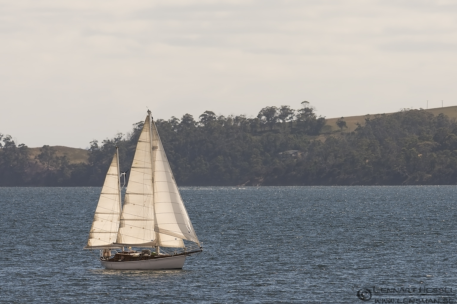 Sailing boat Bruny Island