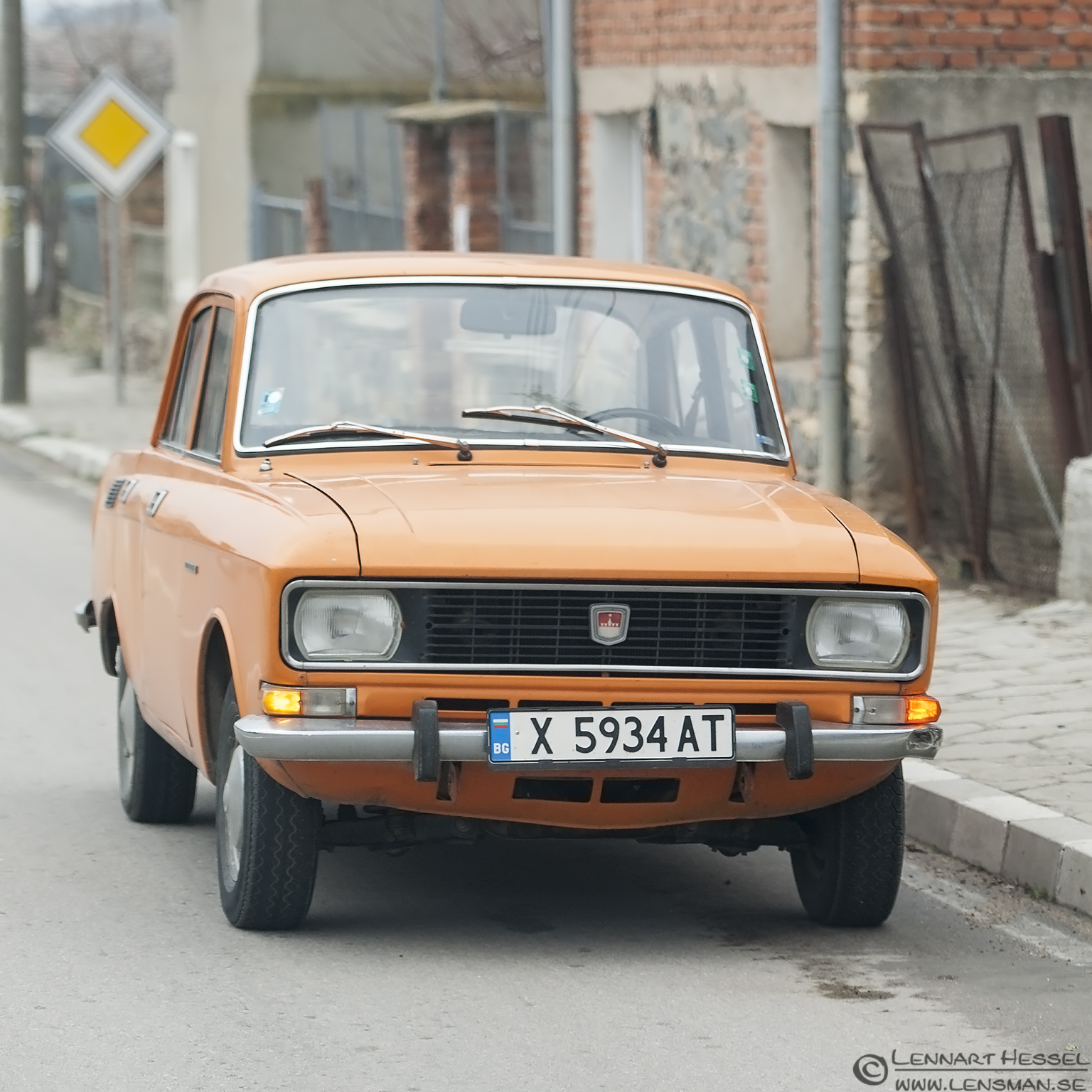 Orange car Bulgaria