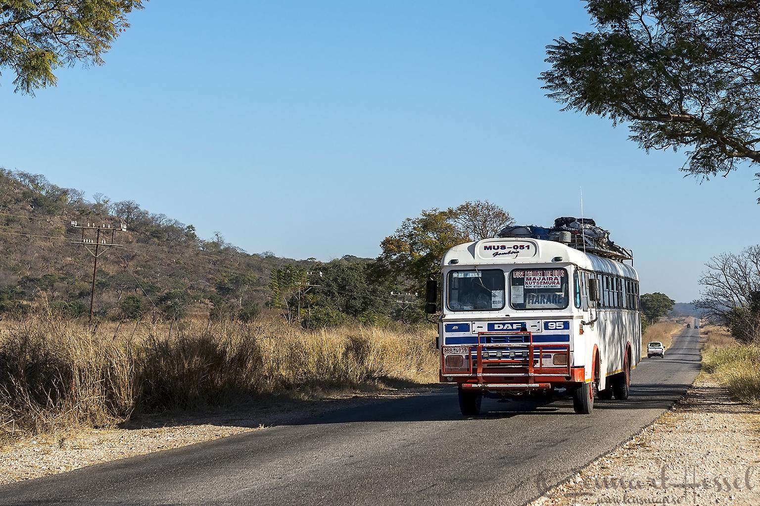 On the road to Mana Pools National Park, Zimbabwe
