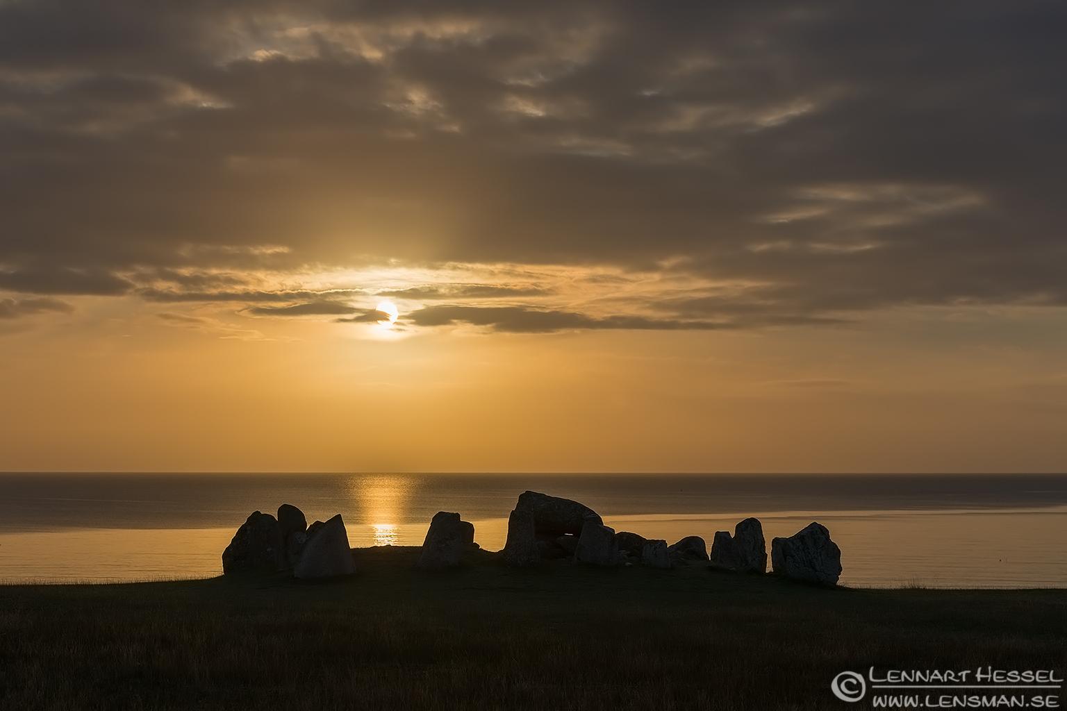 The dolmen at Haväng Scania