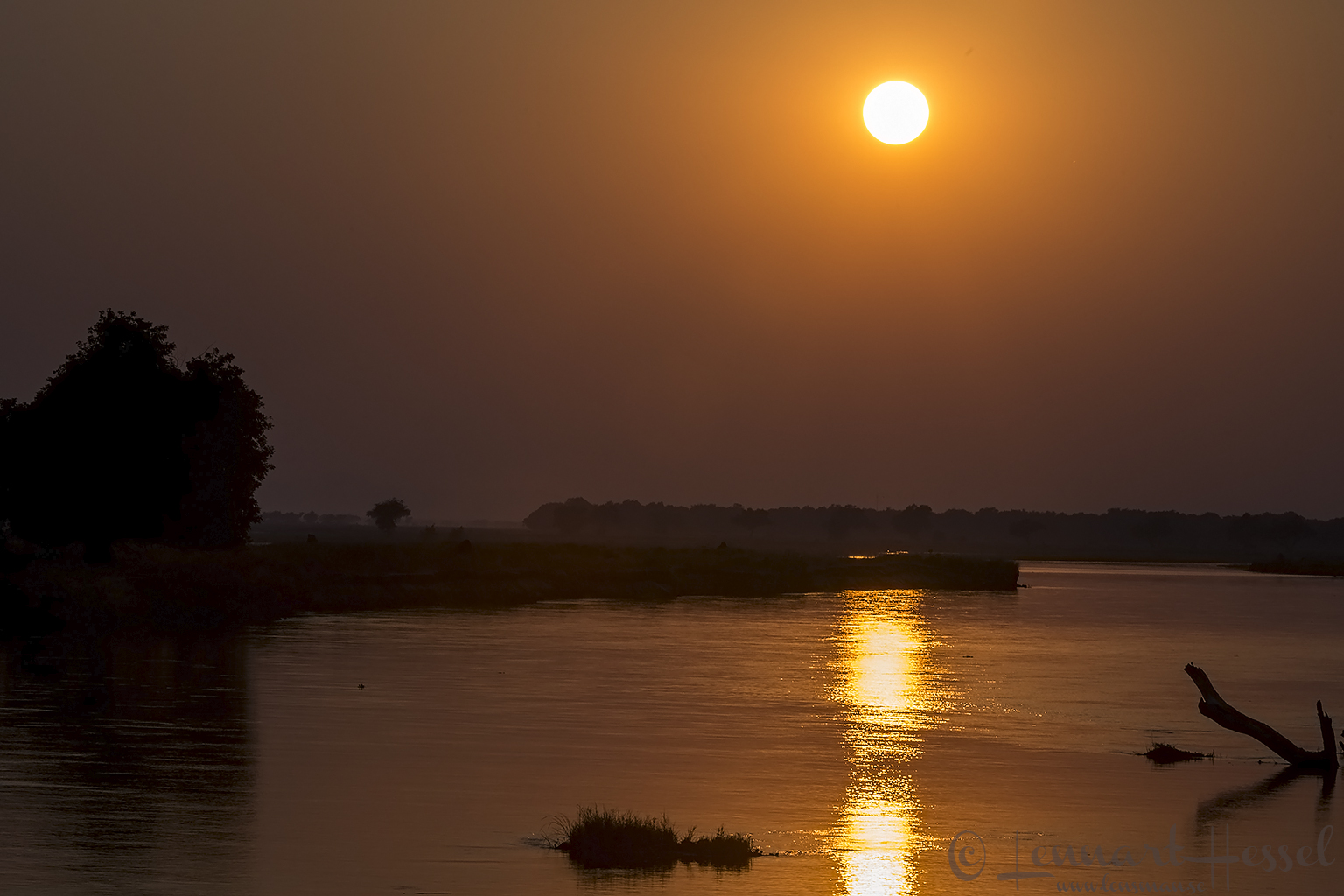 Sunrise over Zambezi Mana Pools National Park Zimbabwe