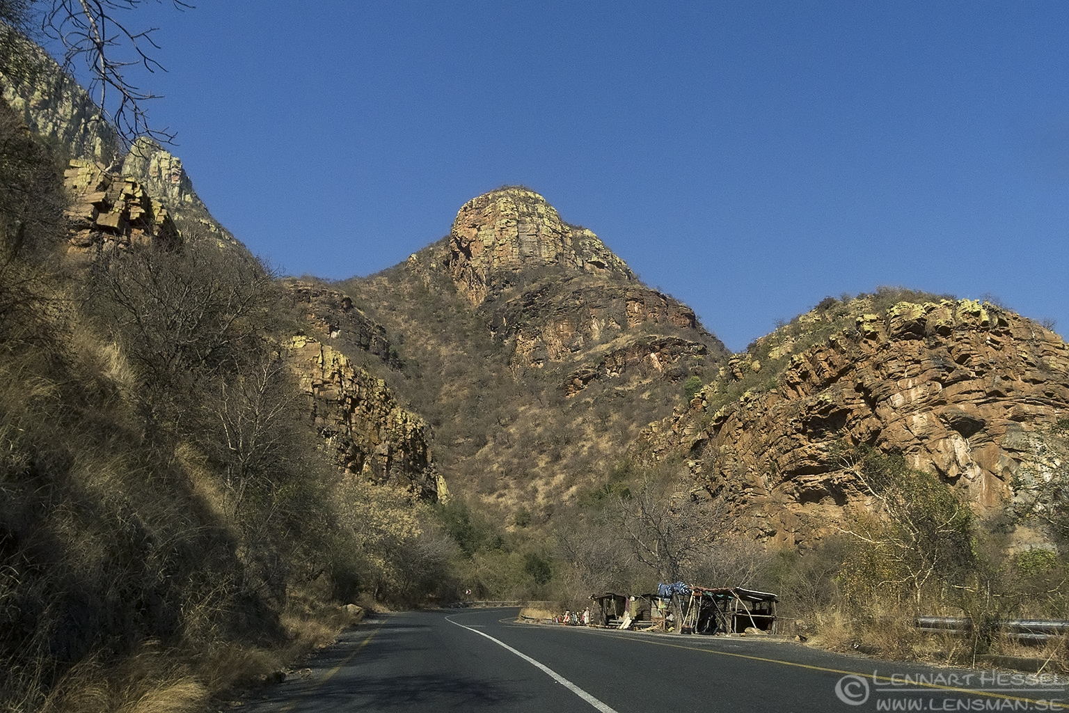 On the road back to Johannesburg South Africa