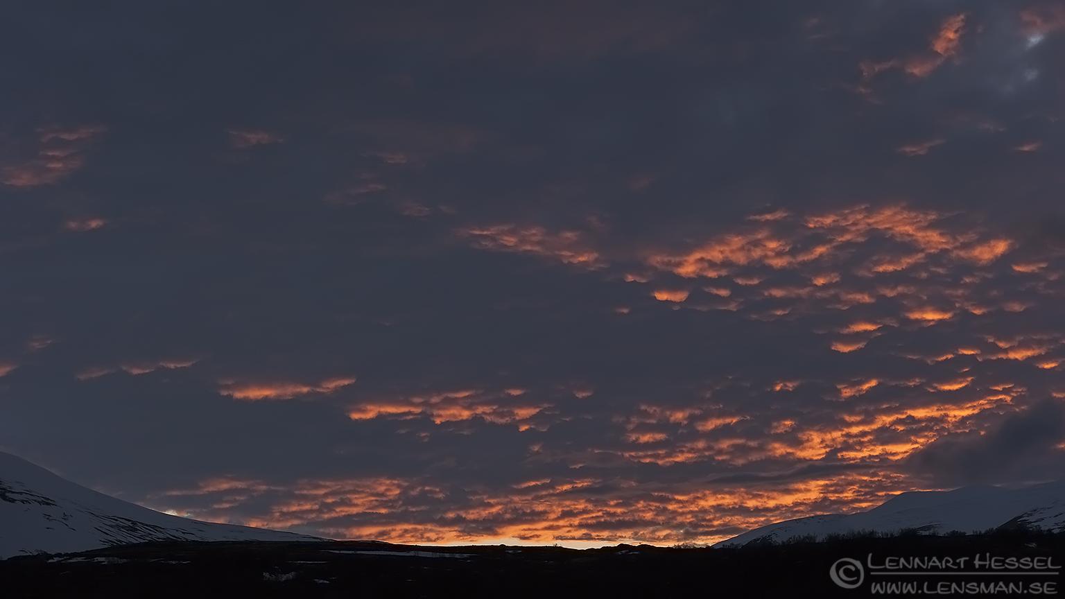 Evening sky Dovrefjell