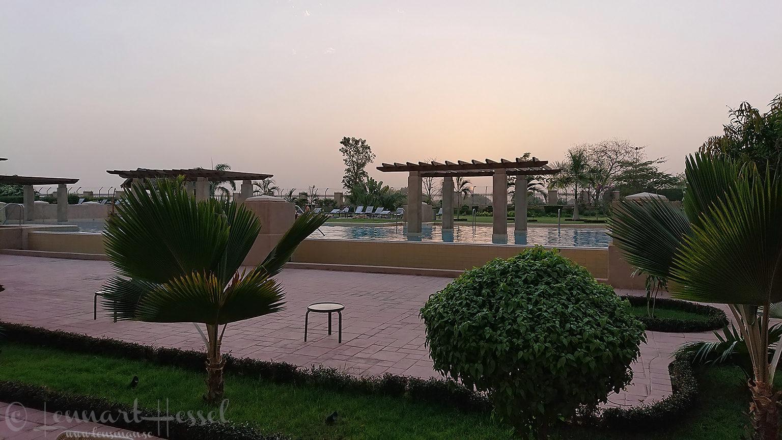 Hilton pool area N'Djamena Chad Zakouma