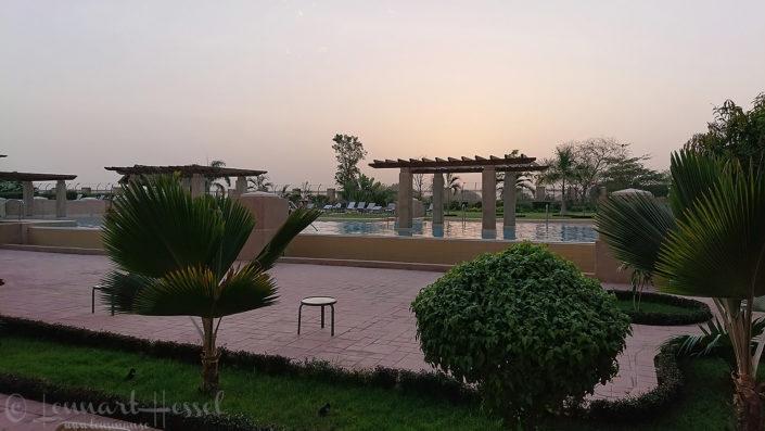 Hilton pool area N'Djamena Chad